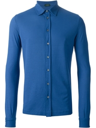 Zanone Long Sleeve Shirt Blue