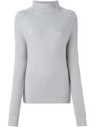 Liska Turtle Neck Fitted Sweater Grey