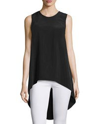 Nu Construction Marylin Scoop Back High Low Tank Black