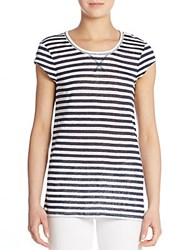 Saks Fifth Avenue Striped Linen Tee