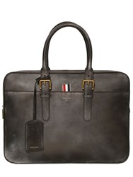 Thom Browne Vintage Effect Leather Briefcase