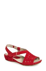 Women's Earthies 'Razzoli' Sandal Bright Red Soft Nubuck