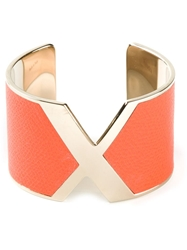 Valextra 'X' Cuff Yellow And Orange
