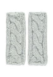 Forever 21 Cable Knit Fingerless Gloves Grey