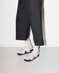 Marni Western Stitch Sandal White And Black