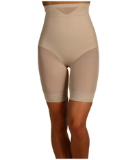 Miraclesuit Extra Firm Sexy Sheer Shaping Hi Waist Thigh Slimmer Nude Women's Underwear Beige