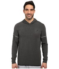 Asics Lightweight Fleece Hoodie Black Heather Men's Sweatshirt