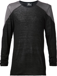 Lost And Found Patch Shoulder Sweater Black