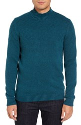 Ted Baker Men's London Trim Fit Mix Stitch Funnel Neck Sweater