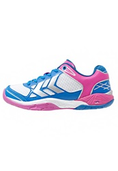 Hummel Omnicourt Z4 Handball Shoes White Rose Violet Directoire Blue