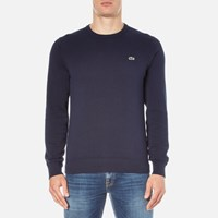 Lacoste Men's Crew Neck Jumper Navy Blue