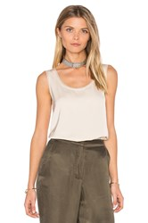 Vince Unfinished Edge Trimmed Tank Peach