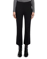 Whistles Kelby Cropped Kick Flare Pants Black