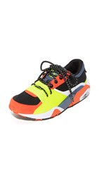 Puma R698 Party Sneakers Safety Yellow Vintage Indigo