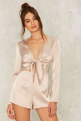 Sleek Havoc Satin Romper Pink