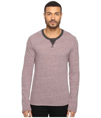 Alternative Apparel Eco Nep Jersey Lumberjack Long Sleeve Crew Eco Dark Ruby Men's Clothing Purple