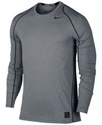 Nike Pro Cool Dri Fit Fitted Long Sleeve Shirt Carbon Heather