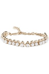 Valentino Gold Plated Faux Pearl Bracelet