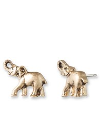 Lonna And Lilly Goldtone Elephant Stud Earrings