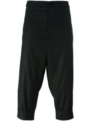 Alchemy Cropped Drop Crotch Trousers Black