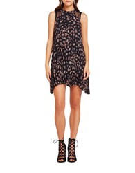Bcbgeneration Star Printed Cocktail Dress Taupe Combo