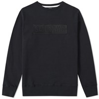 Saturdays Surf Nyc Saturdays Bowery Bar Logo Crew Sweat Black