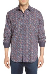 Bugatchi Men's Classic Fit Graphic Dot Print Sport Shirt
