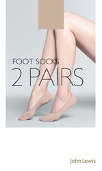 John Lewis Cotton Mix Foot Socks Pack Of 2 Nude