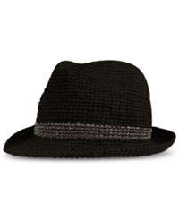 Levi's Men's Crushable Raffia Straw Fedora Black Grey