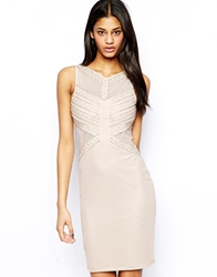 Tfnc Bodycon Dress With Mesh And Beaded Embellishment