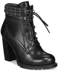 Dolce By Mojo Moxy Outfitter Lace Up Booties Women's Shoes Black