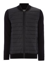Barbour Men's Baffle Zip Through Hybrid Cardigan Black