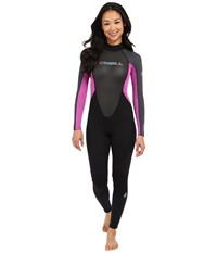 O'neill Reactor 3 2 Full Black Graphite Berry Women's Wetsuits One Piece