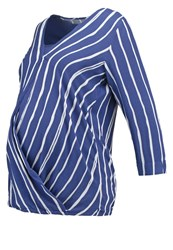 Mama Licious Mlstripy Tess Long Sleeved Top Twilight Blue