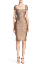 Herve Leger Women's Woodgrain Foil Bandage Dress