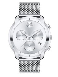 Movado Bold Chronograph Stainless Steel Bracelet Watch Silver