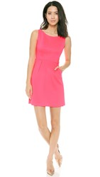Milly Seamed Detail Dress Fluo Pink