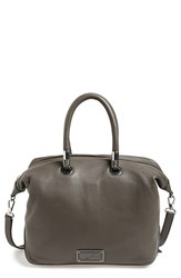 Marc By Marc Jacobs 'Too Hot To Handle' Leather Satchel Grey Faded Aluminum