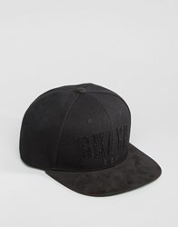 Asos Snapback Cap With Bklyn Logo Black