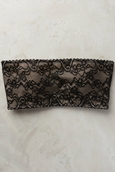 Top Secret Lacework Bandeau Bra Black Motif