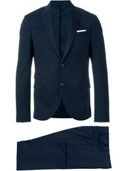 Neil Barrett Classic Fitted Suit Blue