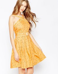 Trollied Dolly Cross My Heart Dress Yellow Sprinkles