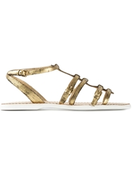 Car Shoe Strappy Metallic Sandals