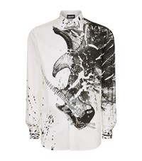 Just Cavalli Eagle And Guitar Print Shirt Male White
