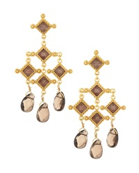 Stephanie Kantis Venetian Chandelier Earrings Smoky Topaz