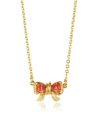 Les Nereides Bijoux Miniatures Tiny Bow Necklace Red