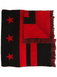 Givenchy Stars And Stripes Print Scarf Black