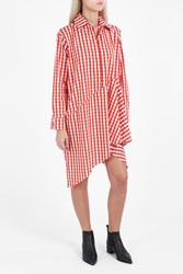Marques Almeida Gingham Dress Orange