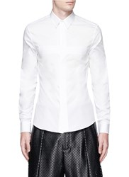 Givenchy Pintuck Cross Front Poplin Shirt White
