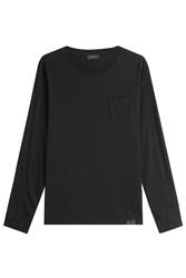 Belstaff Long Sleeved Cotton Top Black